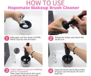 How to Use Hopemate Brush Cleaner