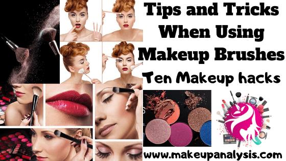 Tips and tricks when using makeup brushes-10 Makeup hacks