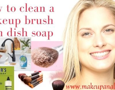 how to clean a makeup brush with dish soap