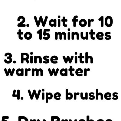 how to clean hair brushes with ammonia