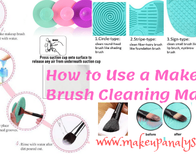 how to use a makeup brush cleaning mat