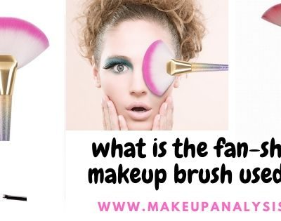 what is the fan-shaped makeup brush used for