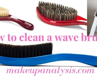 How to clean a wave brush?