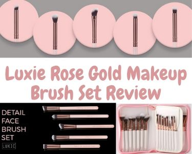 Luxie rose gold makeup brush set review
